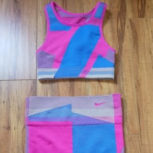 Nike Seamless Knit Sports Bra & Shorts